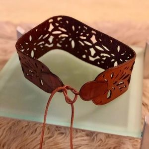 Abercrombie & Fitch Cutout  Boho Leather Belt